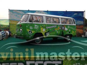 Оклейка авто для Green Fest 2013 передний левый угол 1