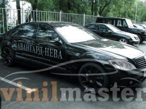 Брендирование автомобилей Mercedes S-klass правая боковина