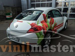 Оклейка Volkswagen Beetle для Аксель-сити задний правый угол