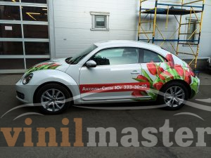 Оклейка Volkswagen Beetle для Аксель-сити левая боковина