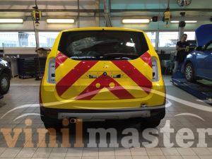 Оклейка авто для аэропорта Шереметьево вид сзади