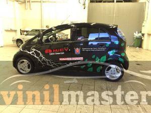 Оформление электромобиля Mitsubishi I-Miev левая боковина