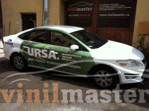 Брендирование автомобилей для компании URSA передний правый угол