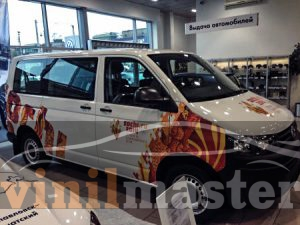 Оклейка автомобилей к Олимпийским играм в Сочи Volksvagen Multivan