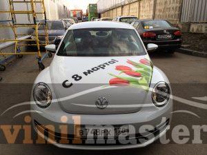 Оклейка Volkswagen Beetle для Аксель-сити вид спереди