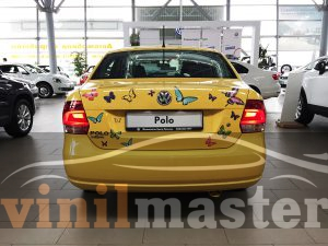 Volkswagen Polo SEDAN вид сзади