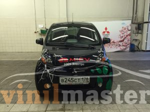 Оклейка электромобиля Mitsubishi I-Miev