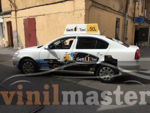 Брендирование для Gett Taxi вид слева