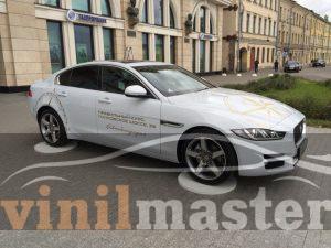 Оклейка Jaguar XE для компании Автобиография левая боковина