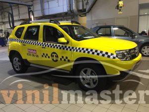 Оклейка Renault для форума Такси правая боковина
