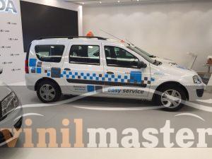 Оклейка Renault для форума Такси вид справа