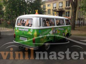 Оклейка авто для Green Fest 2013 вид сзади