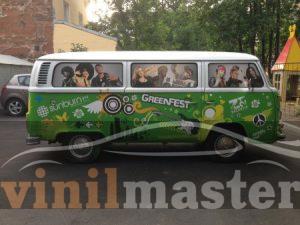 Оклейка авто для Green Fest 2013 правая боковина