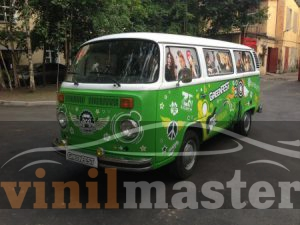 Оклейка авто для Green Fest 2013 передний левый угол