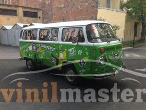 Оклейка авто для Green Fest 2013 передний правый угол