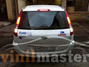 Брендирование автомобилей для компании URSA вид сзади