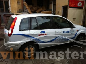 Брендирование автомобилей для компании URSA правая боковина