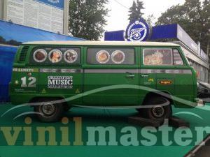 Брендирование автомобиля для Tuborg Green Fest 2012 правая боковина