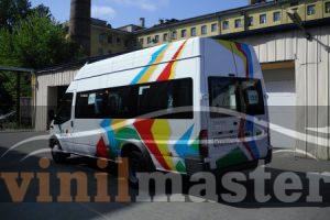 Брендирование автомобилей для компании АН-Секьюрити автобус задняя левая боковина