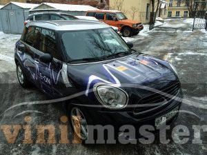 Брендирование авто Mini E-ON передний левый угол