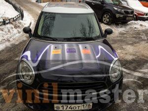 Брендирование авто Mini E-ON вид спереди