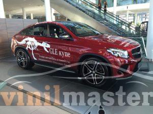 брендирование Mercedes GLE-Class вид справа